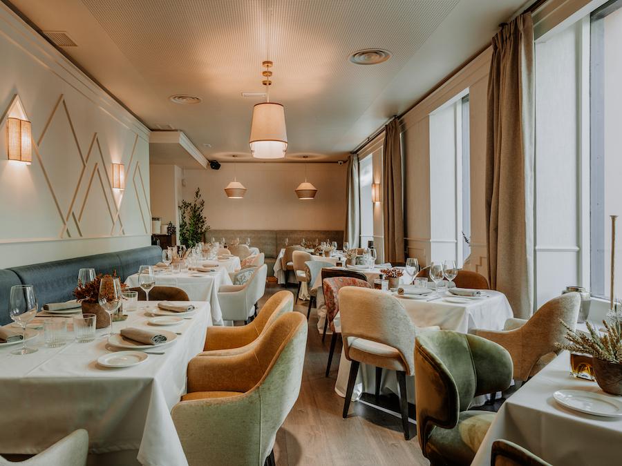 Sala del restaurante Prístino en Madrid